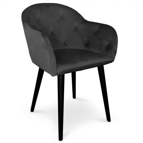 Chaise / Fauteuil Honorine Velours Noir