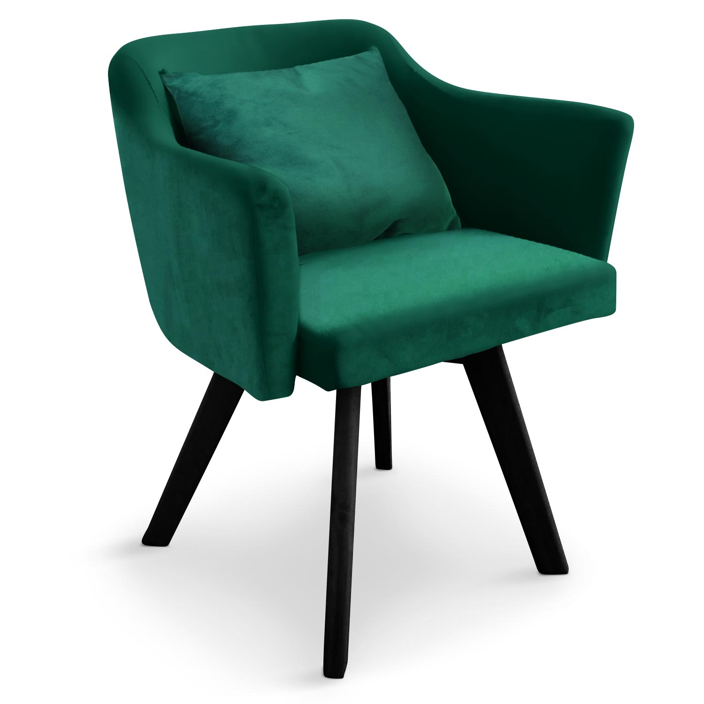 Chaise / Fauteuil scandinave Dantes Velours Vert