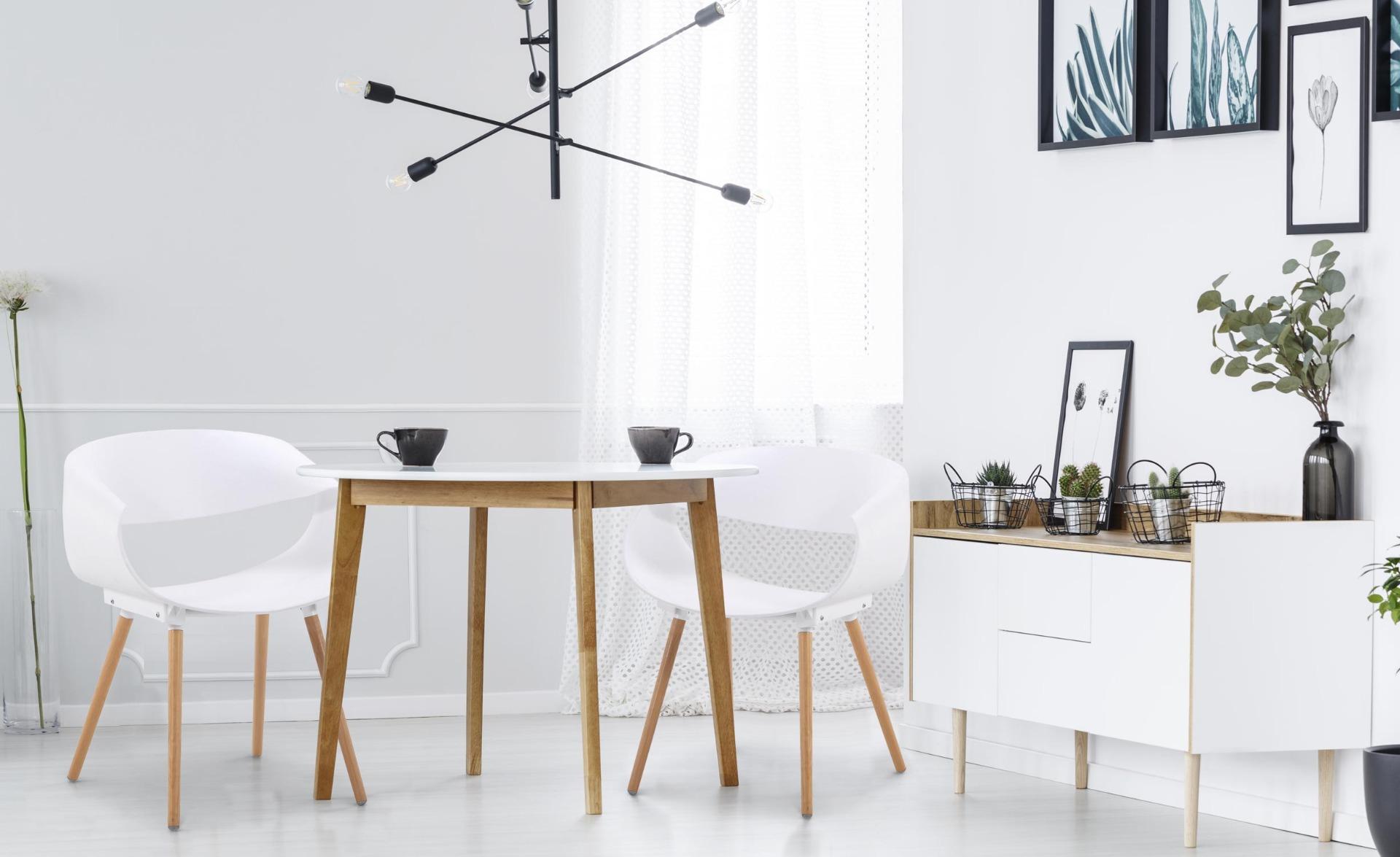 Lot de 2 chaises scandinaves design Zenata Blanc