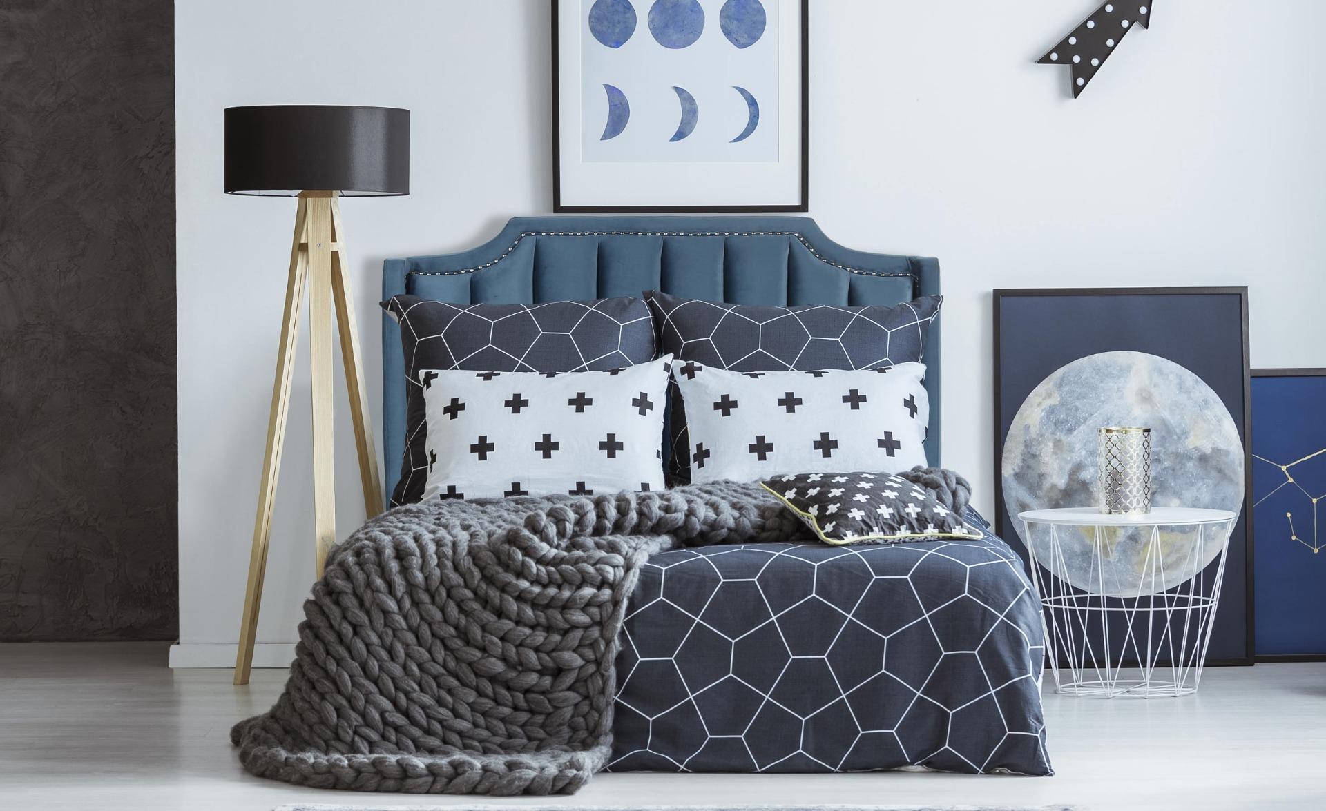 Tête de lit Dhora 140 cm Velours Bleu