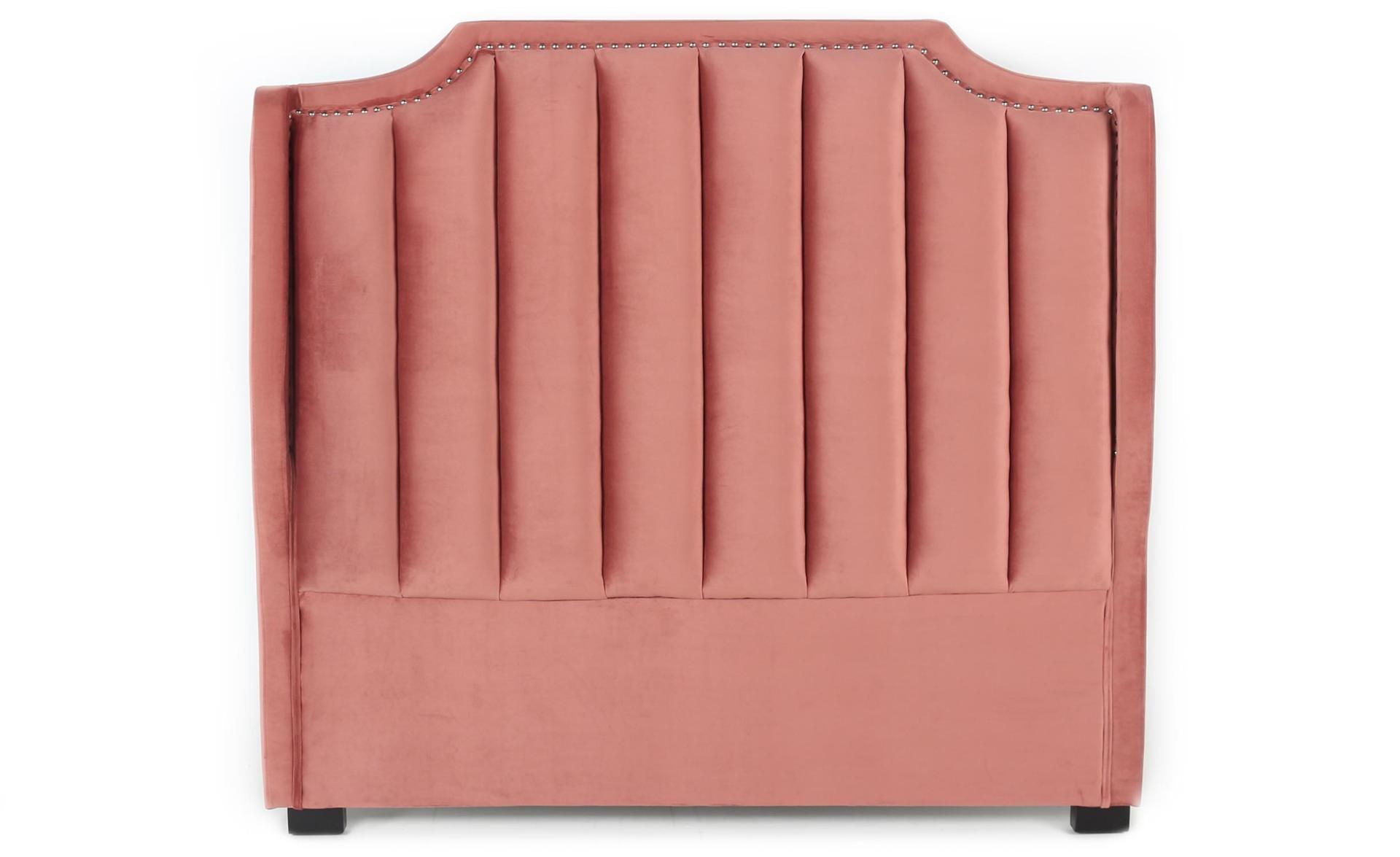 Tête de lit Dhora 140 cm Velours Rose