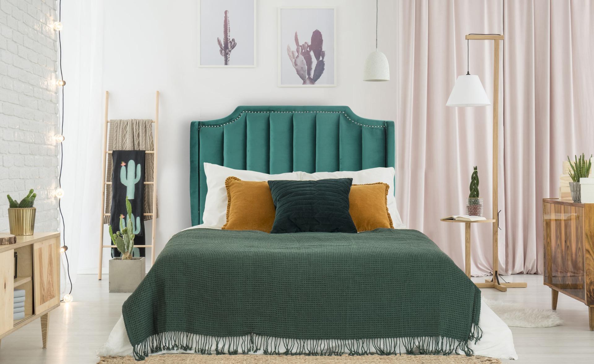 Tête de lit Dhora 140 cm Velours Vert