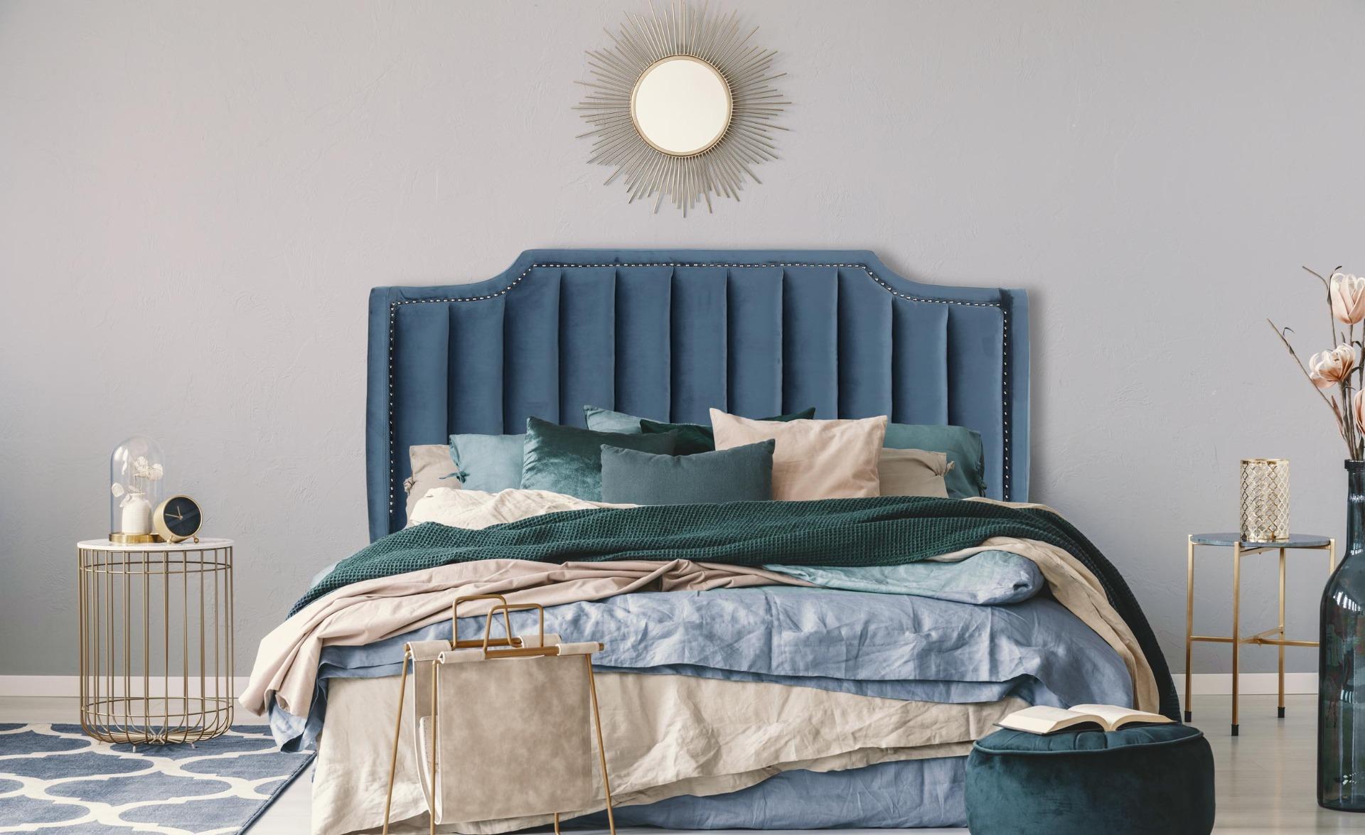 Tête de lit Dhora 180 cm Velours Bleu