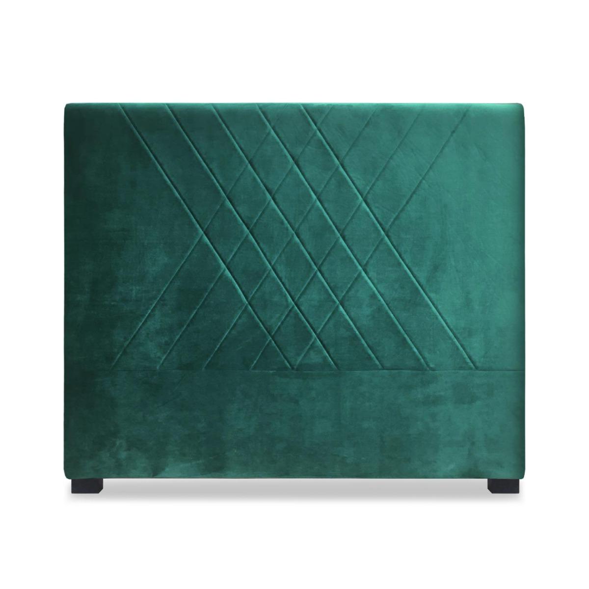 Tête de lit Diam 140cm Velours Vert