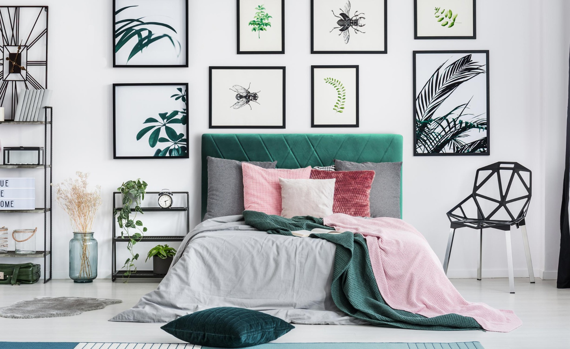 Tête de lit Diam 160cm Velours Vert
