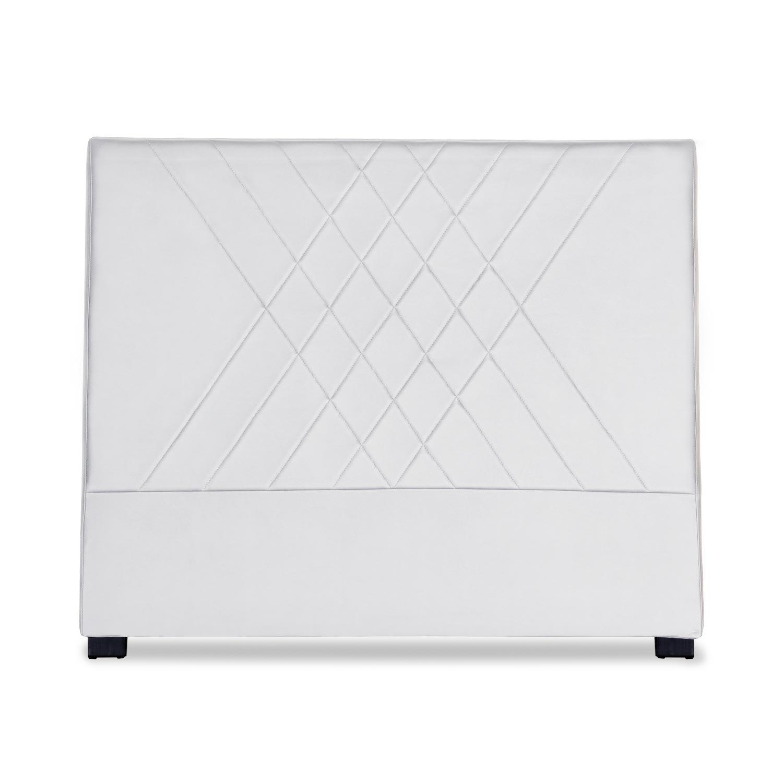 Tête de lit Diam 140cm Simili P.U. Blanc