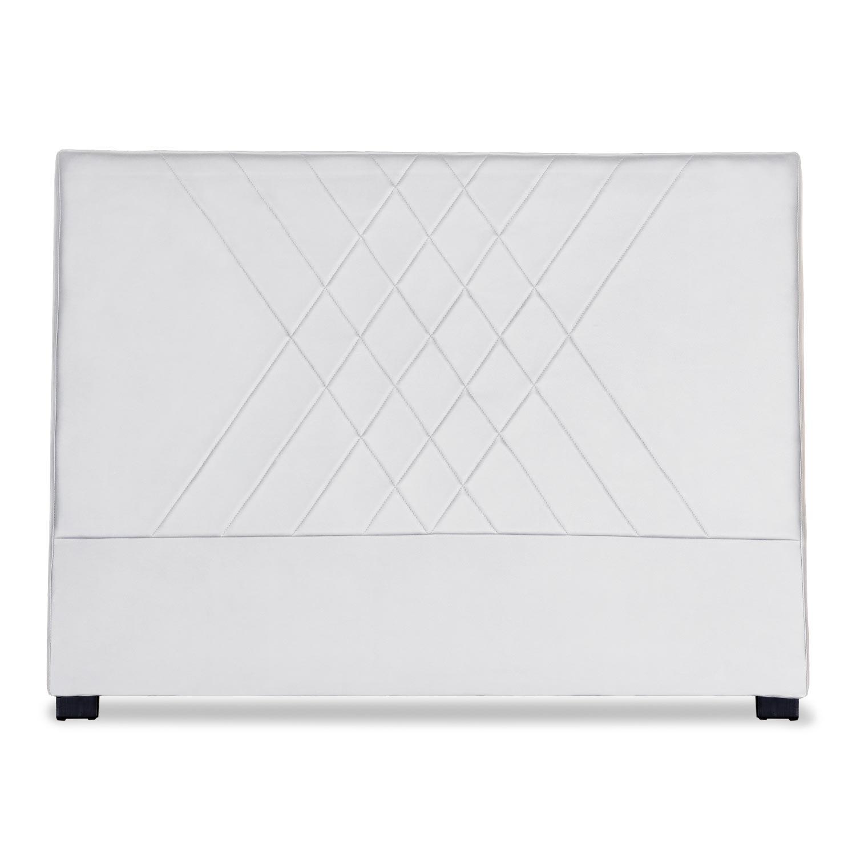 Tête de lit Diam 160cm Simili P.U. Blanc