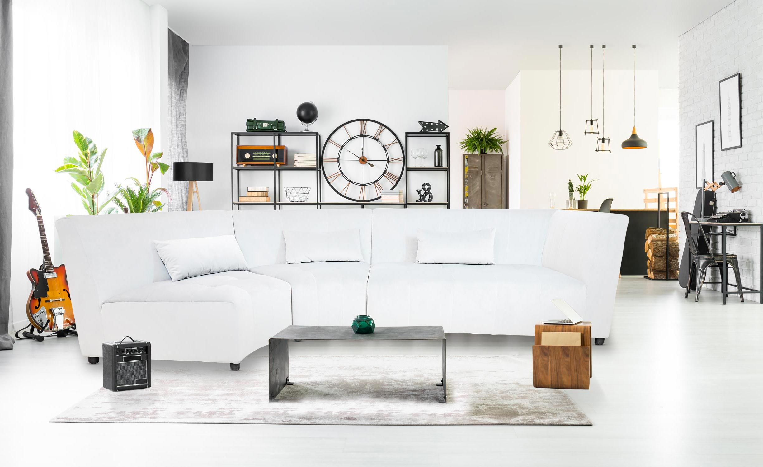 Canapé d'angle Dojo Simili Blanc