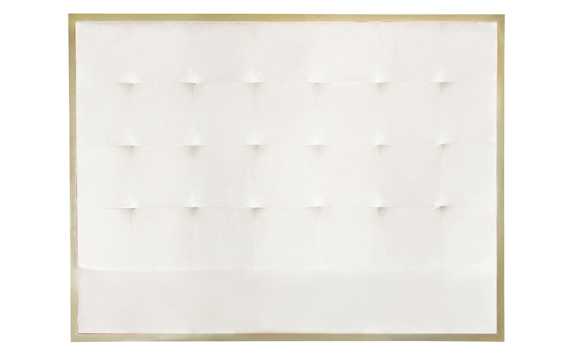 Tête de lit Donna 140 cm Métal Or et Velours Blanc