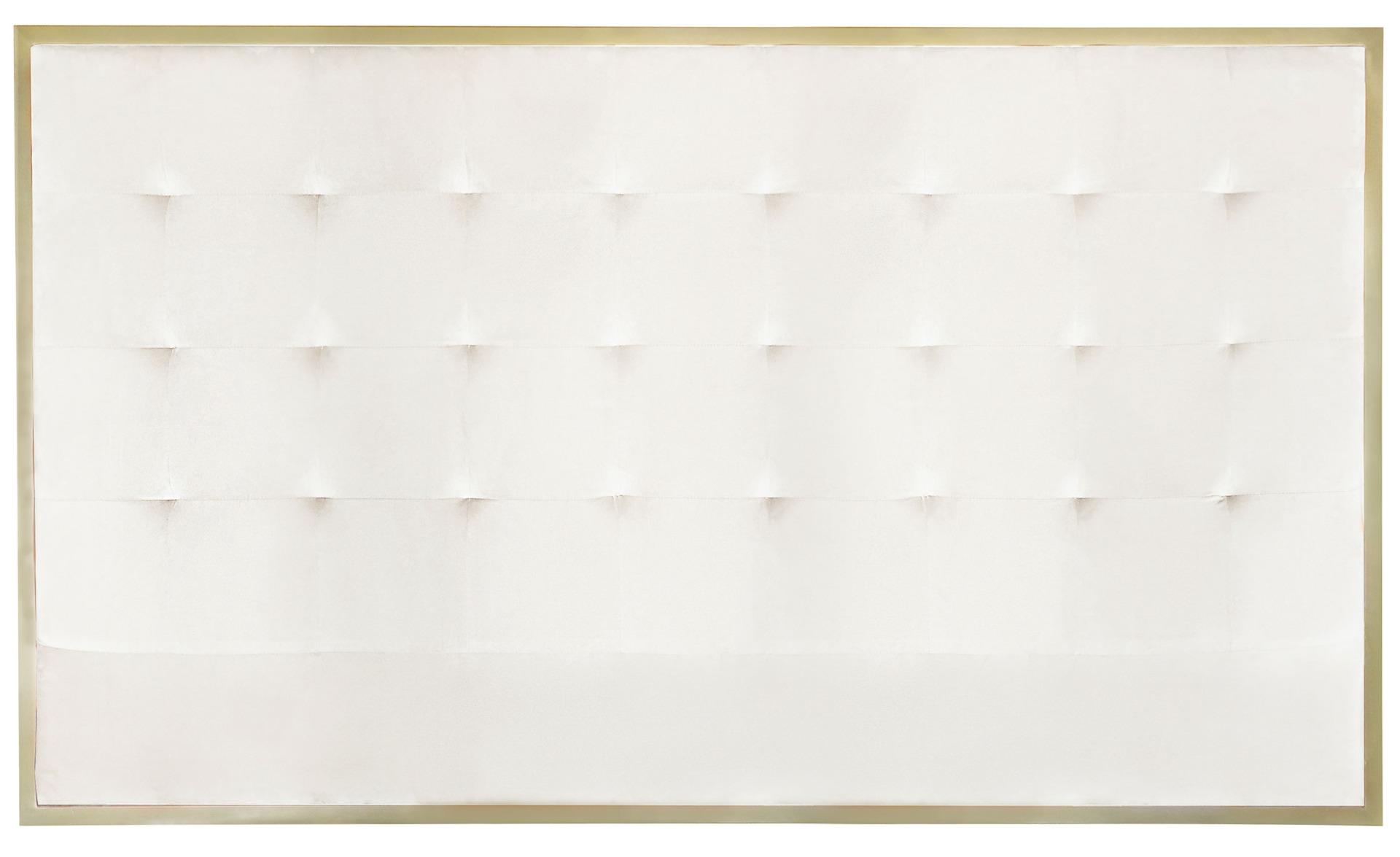 Tête de lit Donna 180 cm Velours Blanc