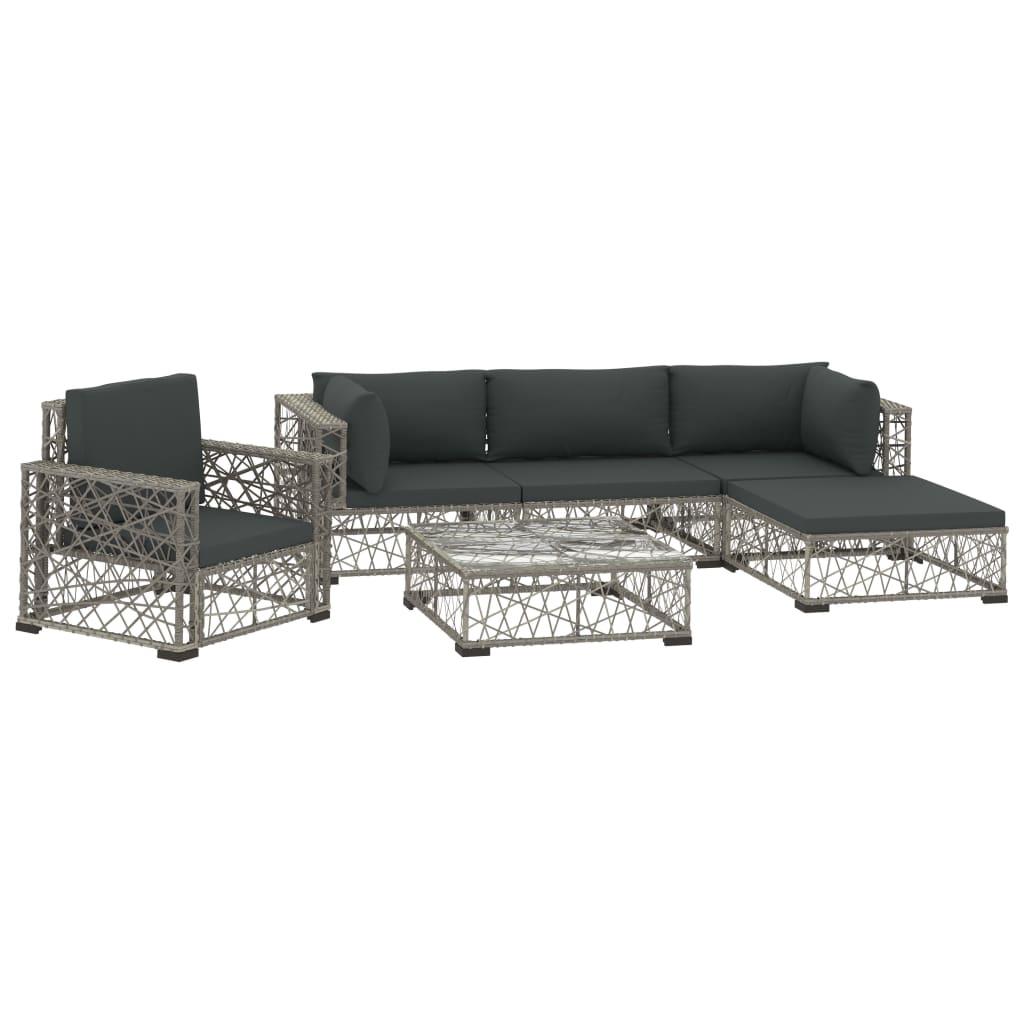 Ensemble canapé + fauteuil + table basse d'extérieur Kondo Résine Gris