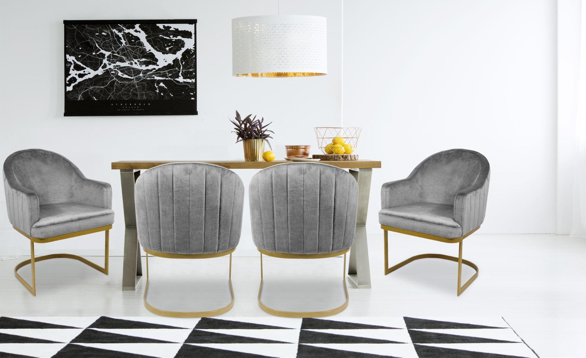 Chaise / Fauteuil Everest Tissu Gris