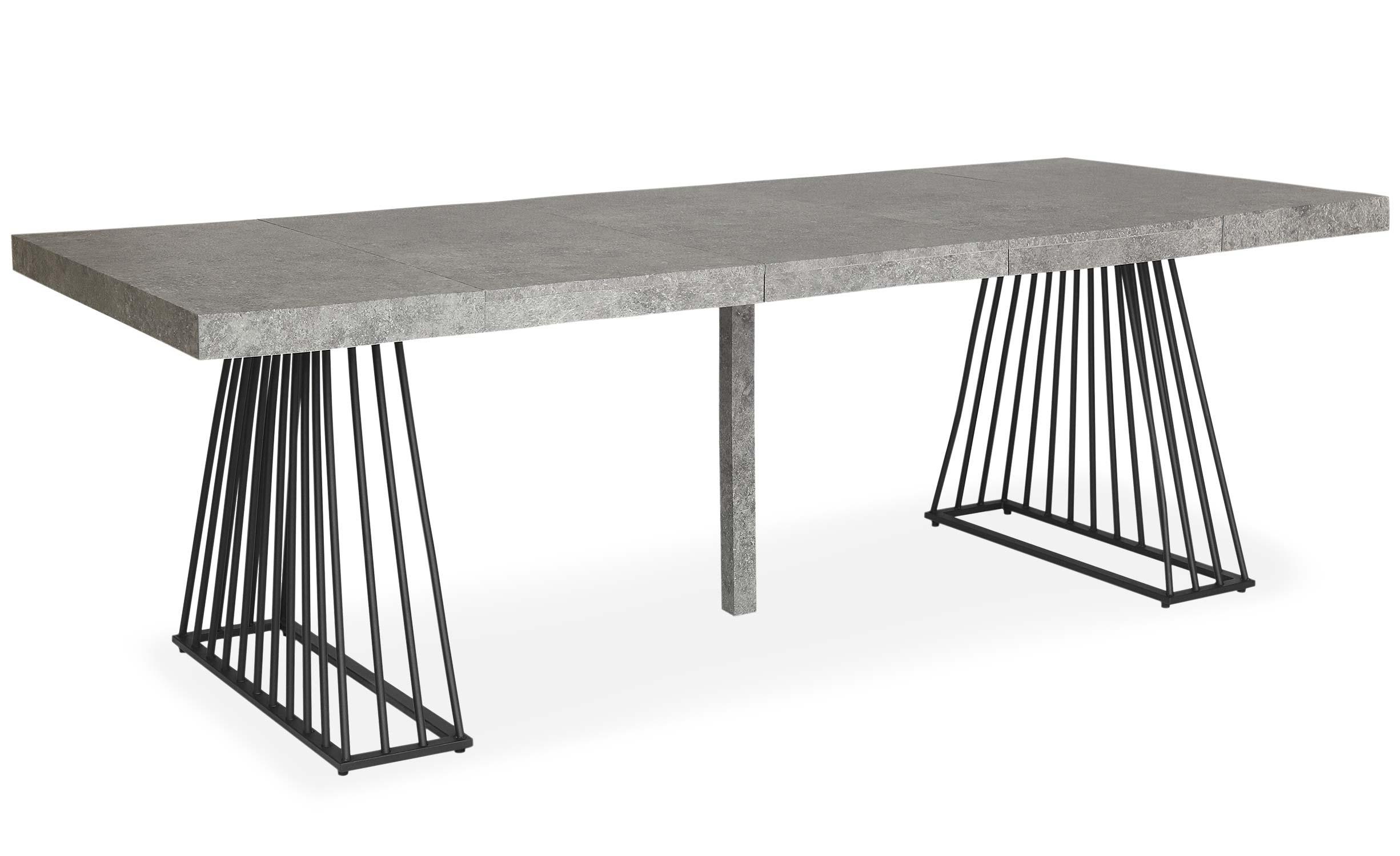 Table extensible Factory Effet Béton