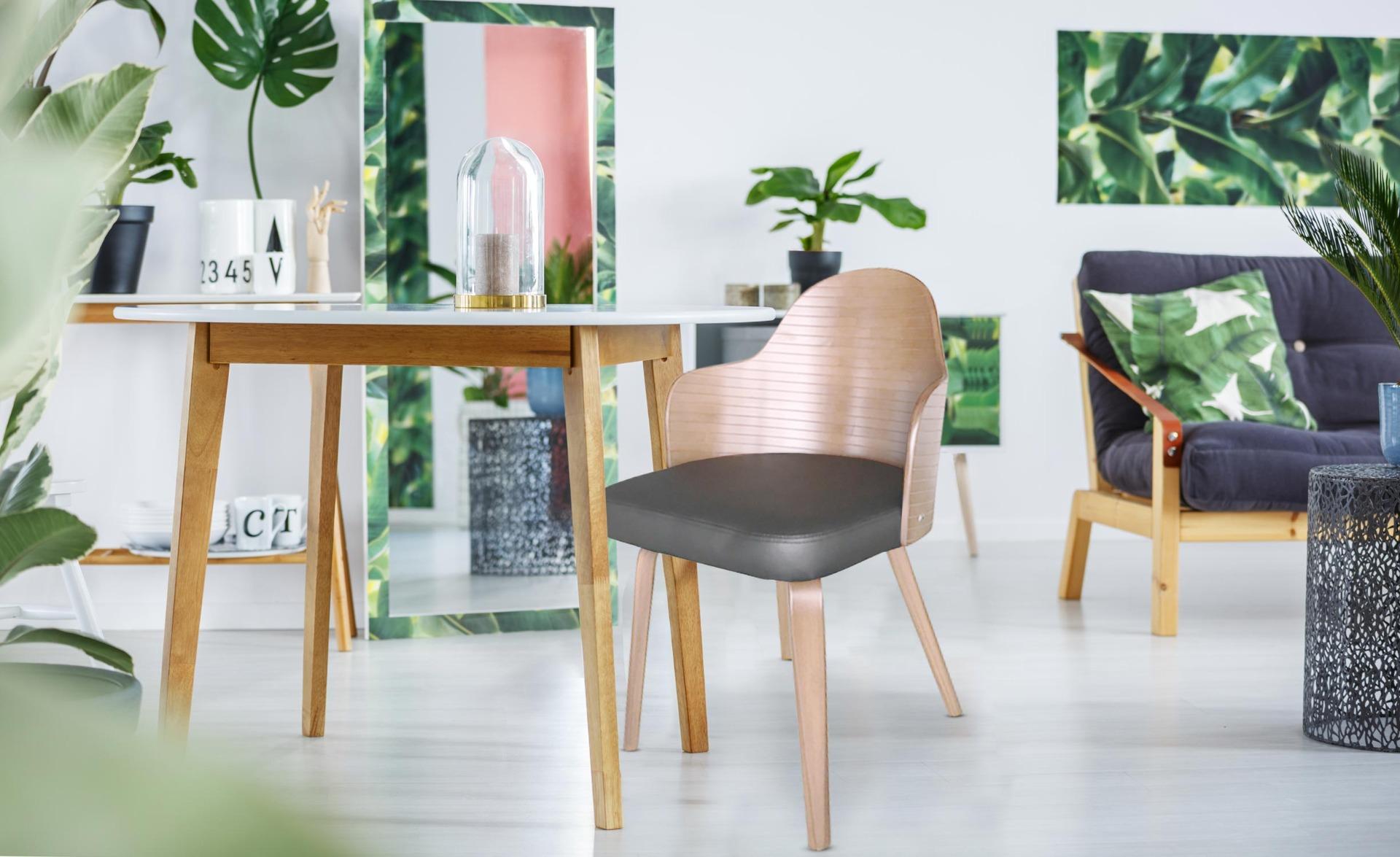 Lot de 2 chaises scandinaves Falbala Vintage et Gris