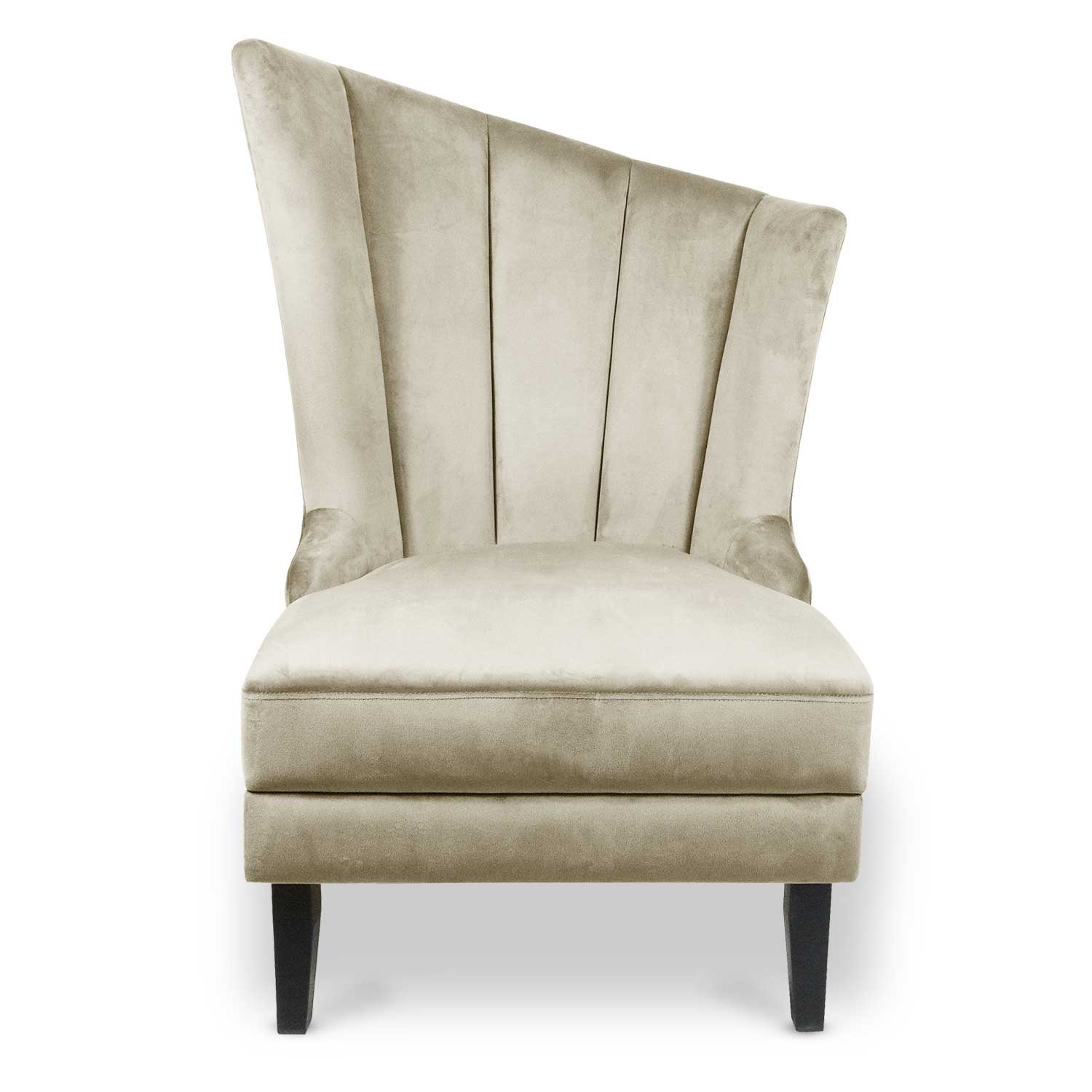 Fauteuil Karl Velours Taupe