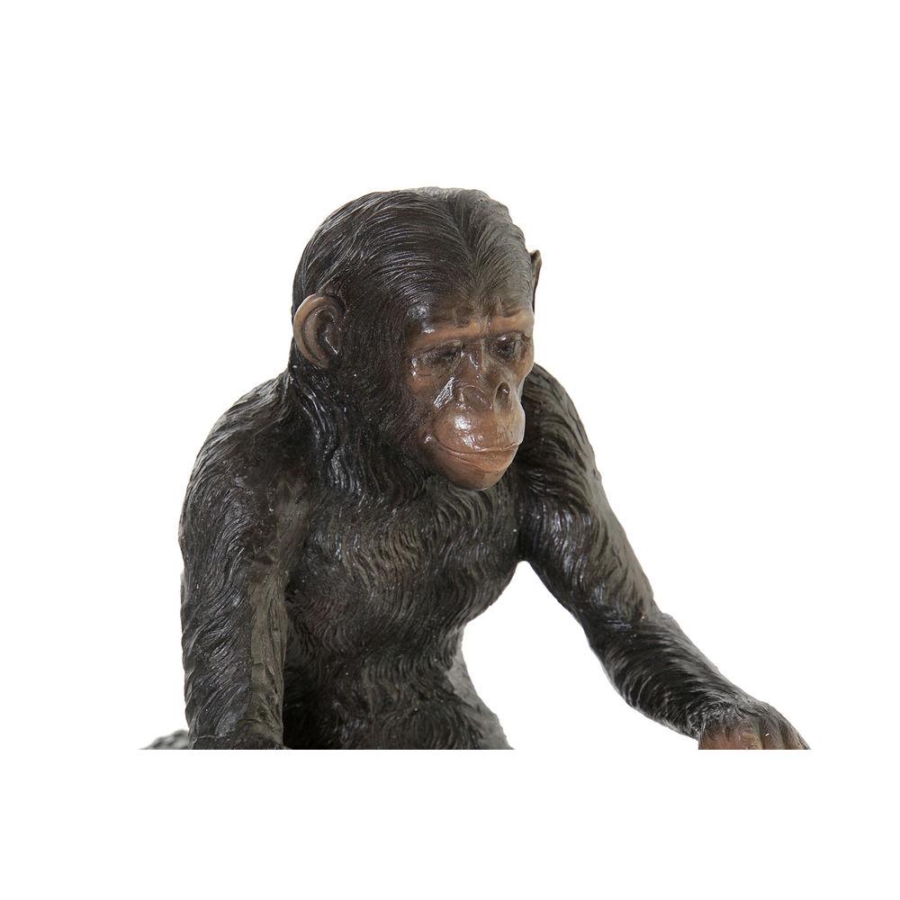 Figurine Chimpanzé Résine Noir