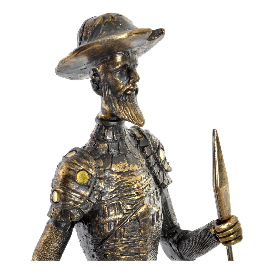 Figurine Don Quichotte 12x42cm Résine Or