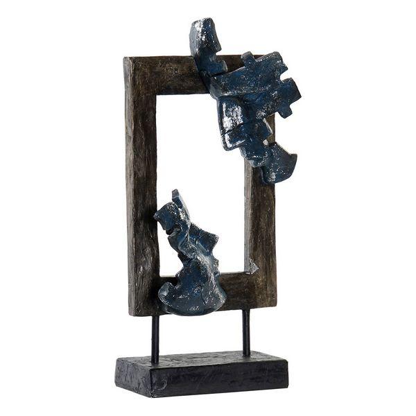 Figurine Regard 18x39cm Métal et Résine Marron et Bleu