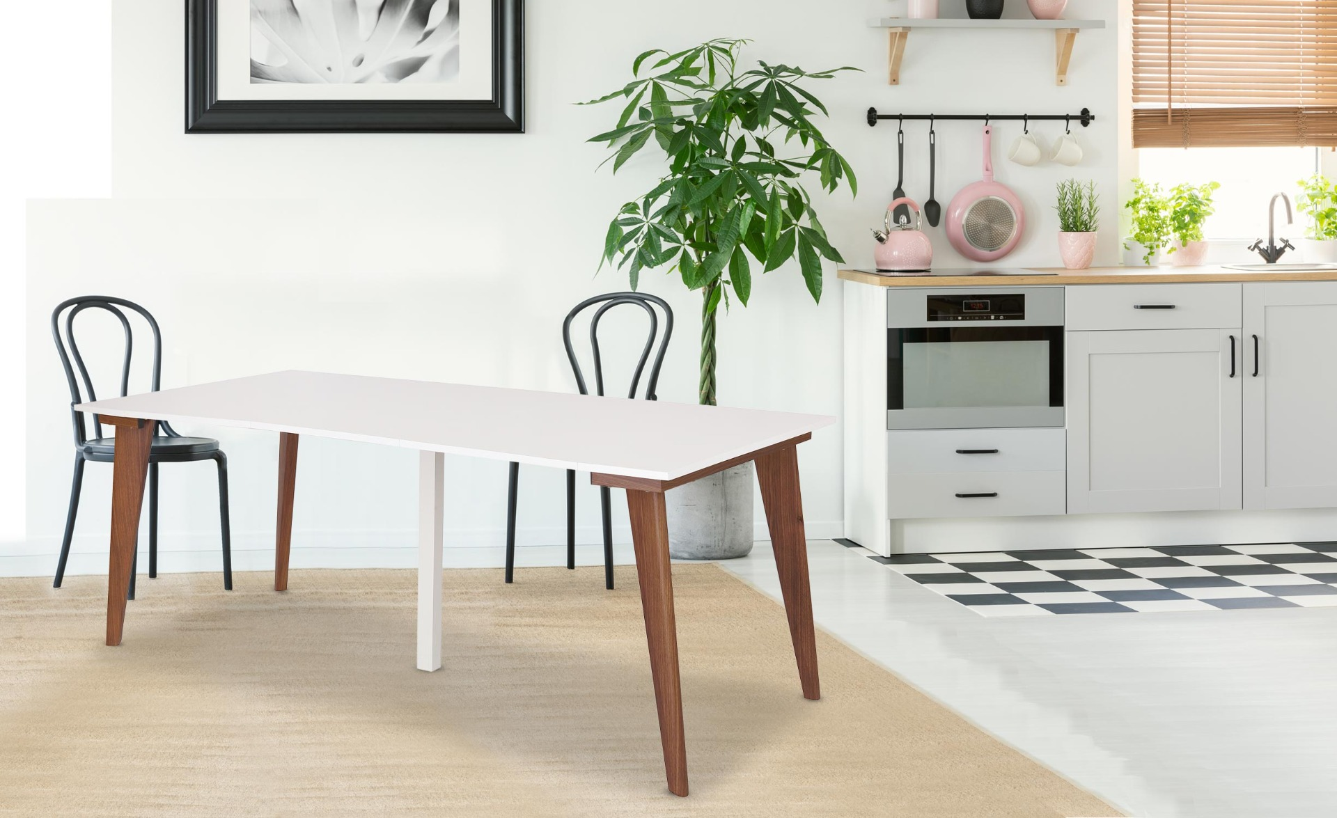 Table Console extensible Flavie Blanc