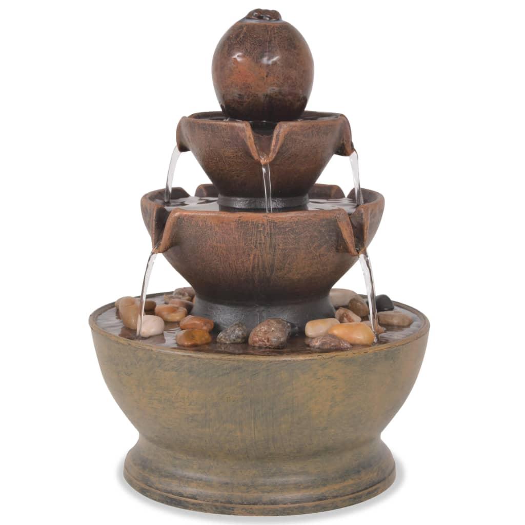 Fontaine d'intérieur Multnomah Polyrésine Marron