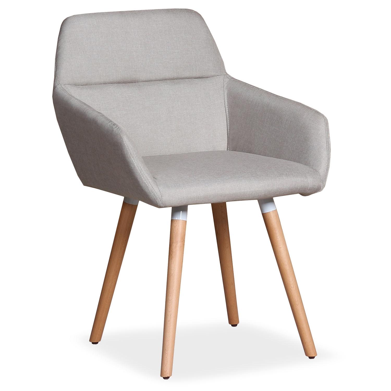 Chaise / Fauteuil scandinave Frida Tissu Beige