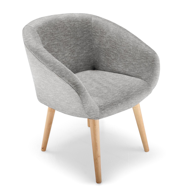 Chaise / Fauteuil style scandinave Frost Gris biais