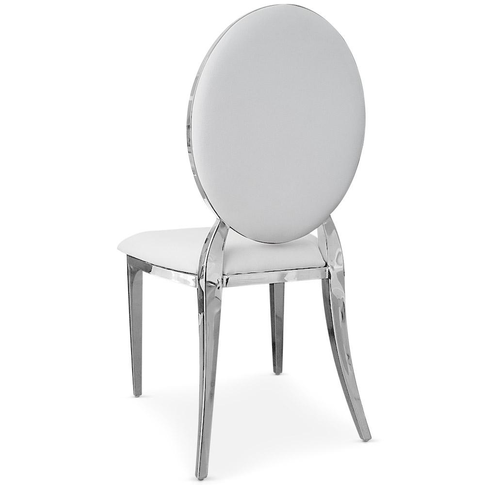 Lot de 4 chaises médaillon Sofia Blanc