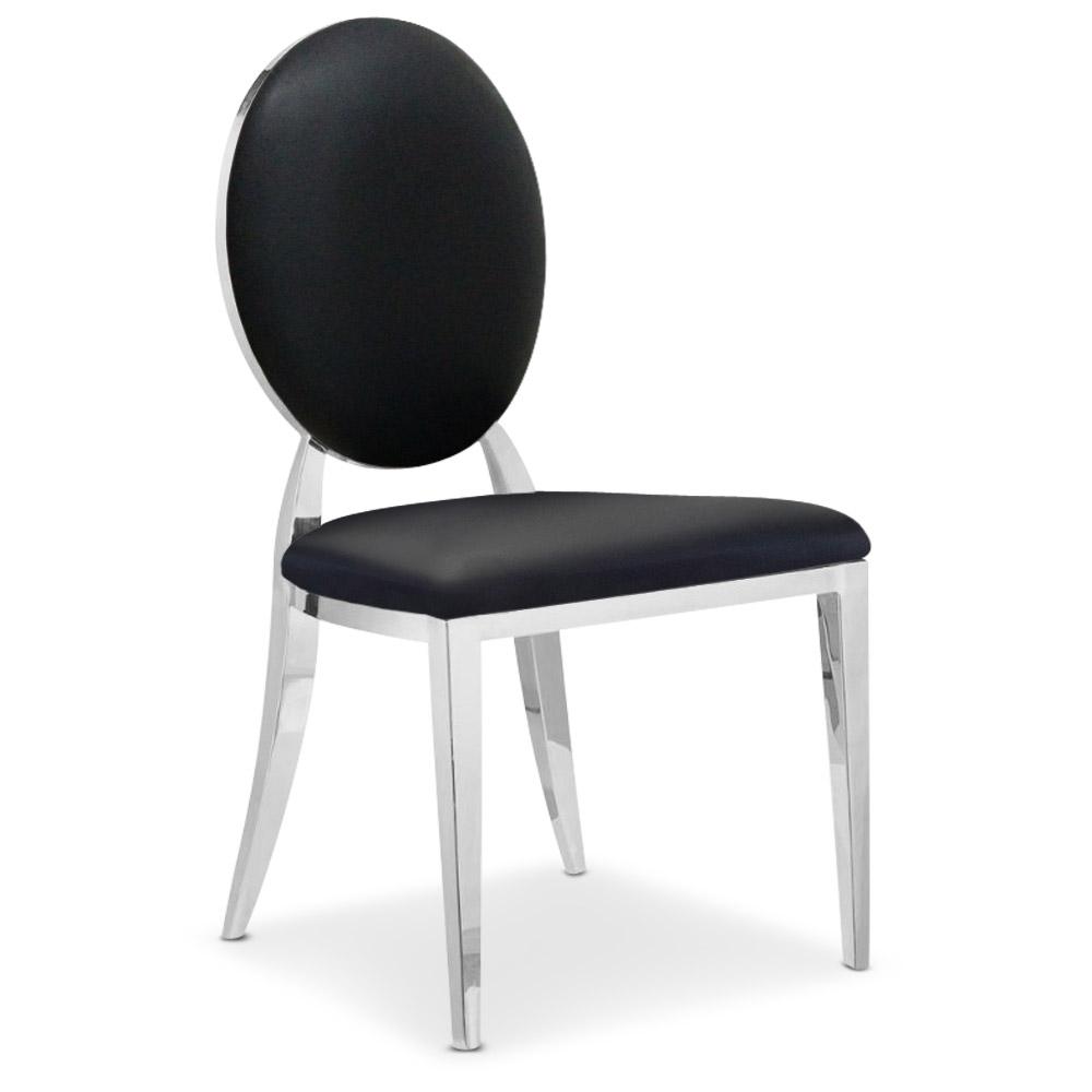 Lot de 4 chaises médaillon Sofia Noir