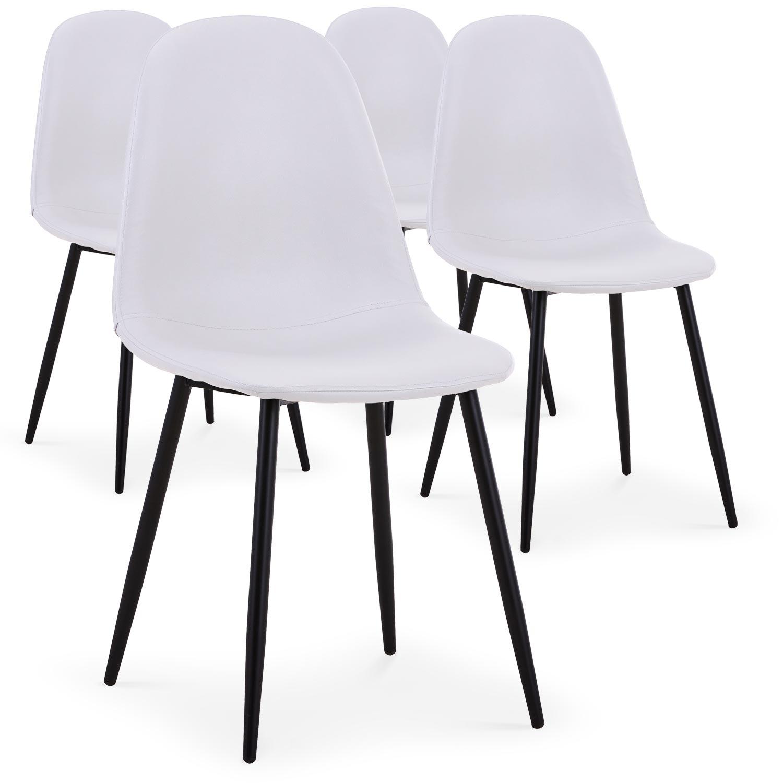 Lot de 4 chaises Gao Simili P.U. Blanc