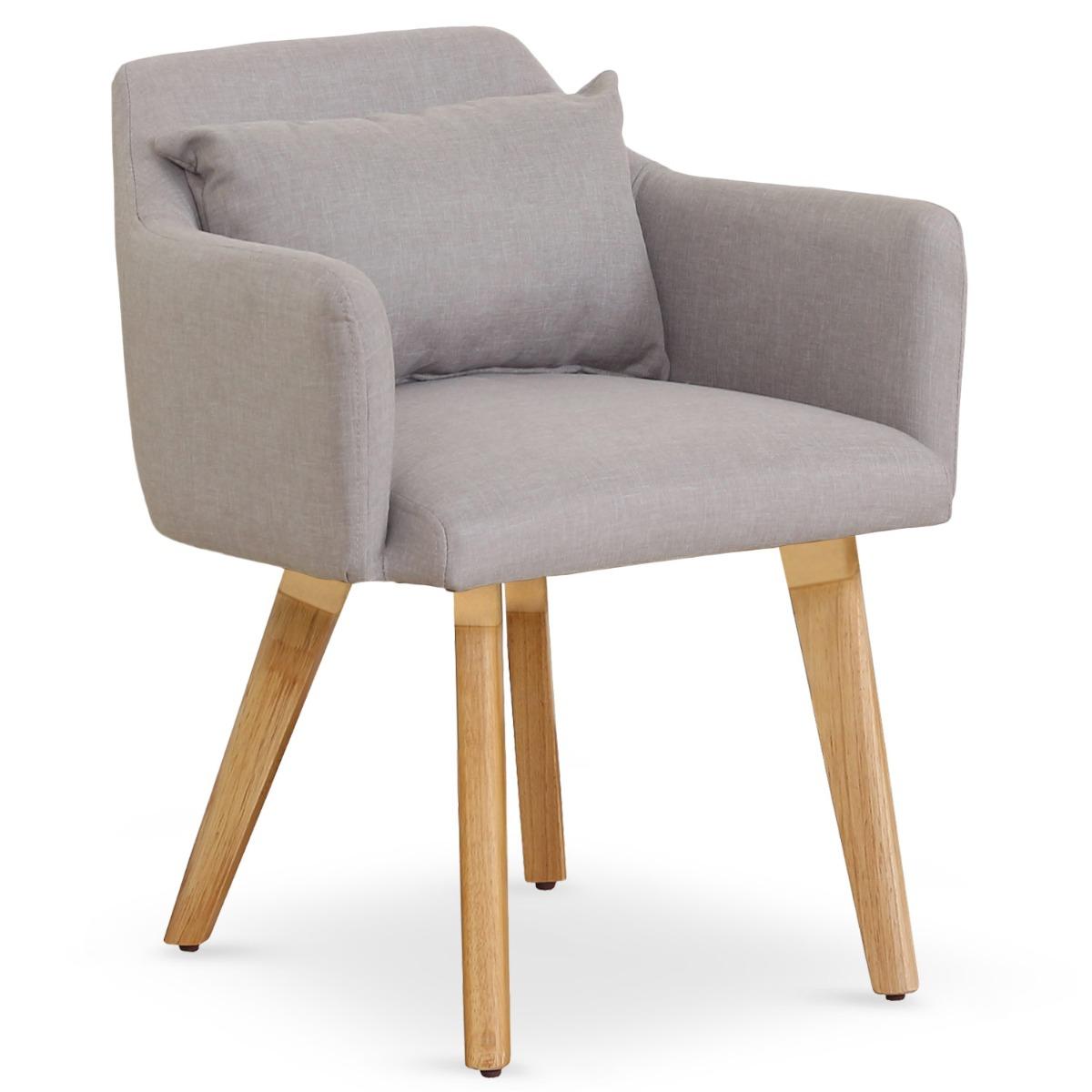 Chaise / Fauteuil scandinave Gybson Tissu Beige