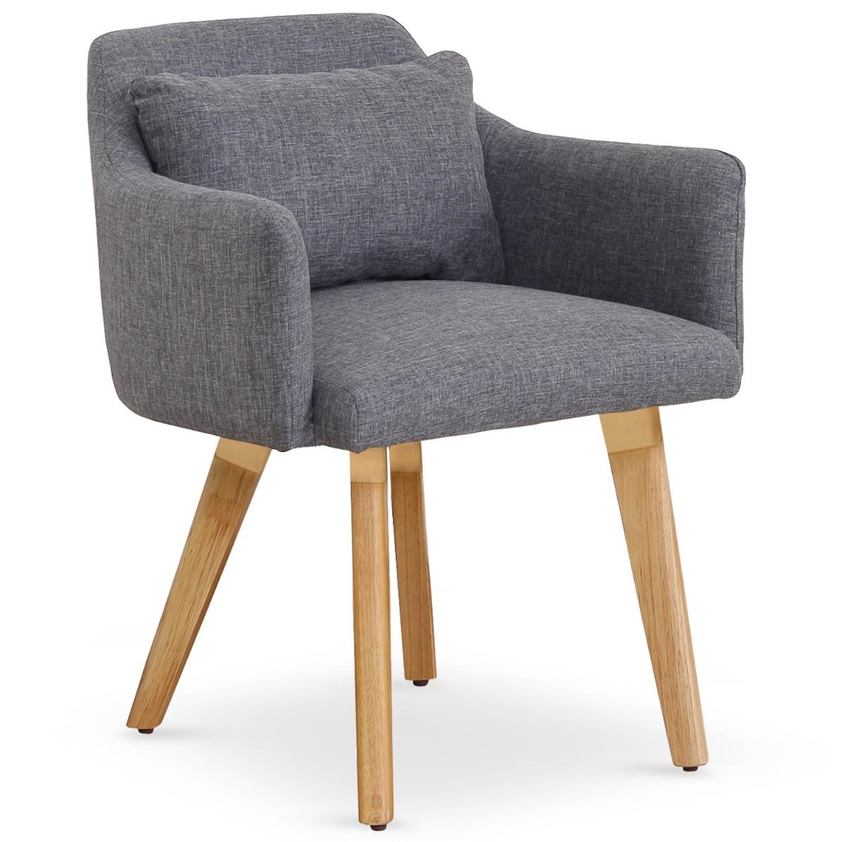 Lot de 20 chaises / fauteuils scandinaves Gybson Tissu Gris clair