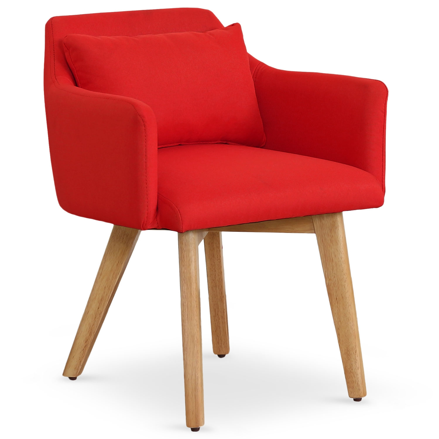 Chaise / Fauteuil scandinave Gybson Tissu Rouge