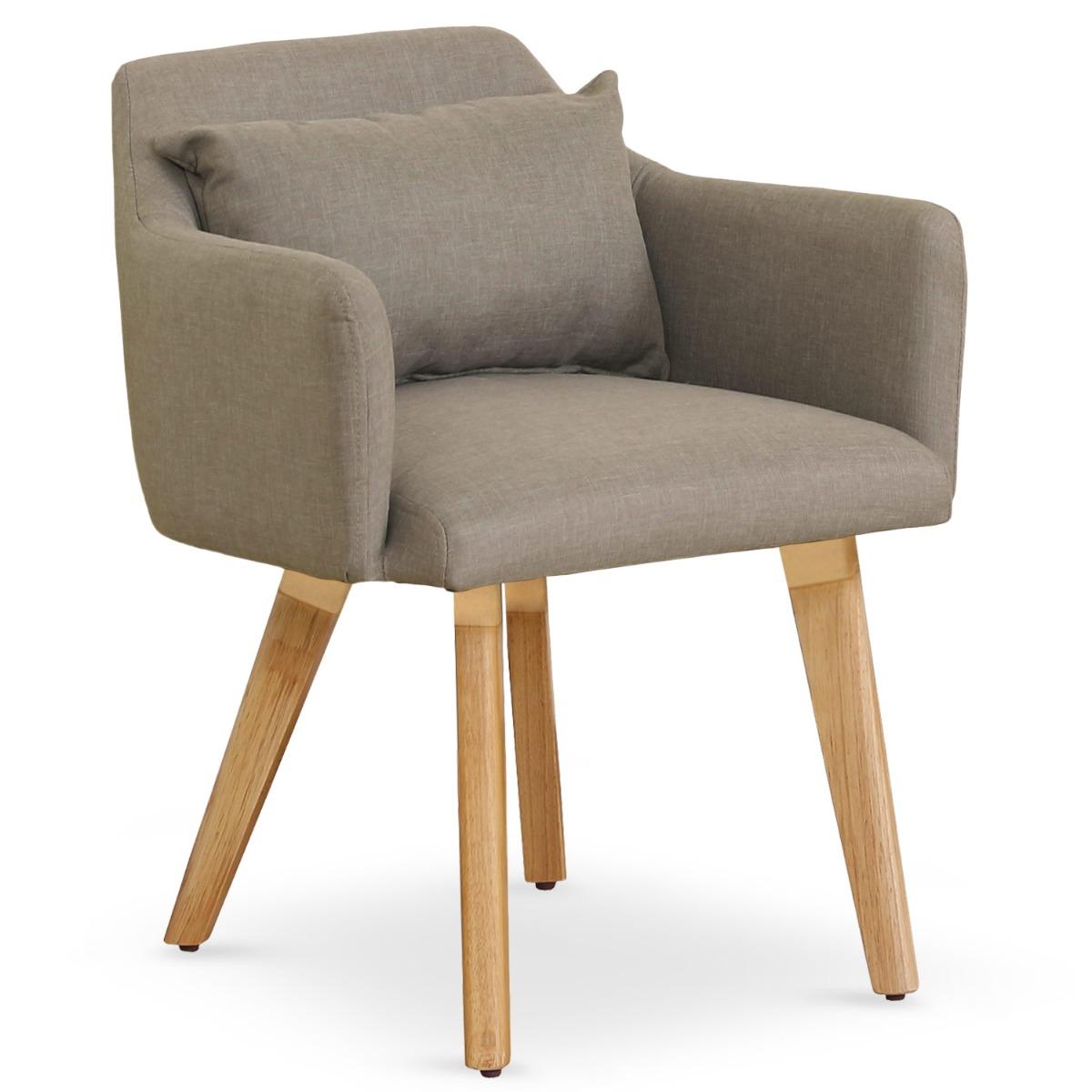 Lot de 20 chaises / fauteuils scandinaves Gybson Tissu Taupe