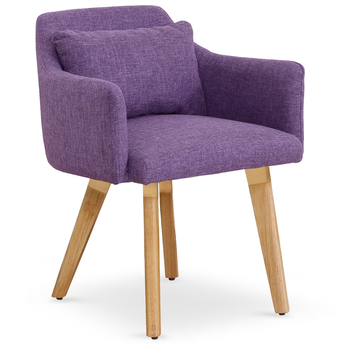 Chaise / Fauteuil scandinave Gybson Tissu Violet