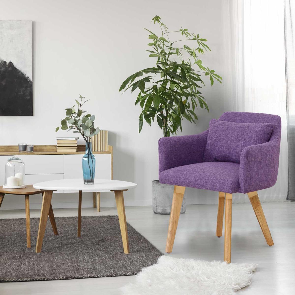 Lot de 20 chaises / fauteuils scandinaves Gybson Tissu Violet