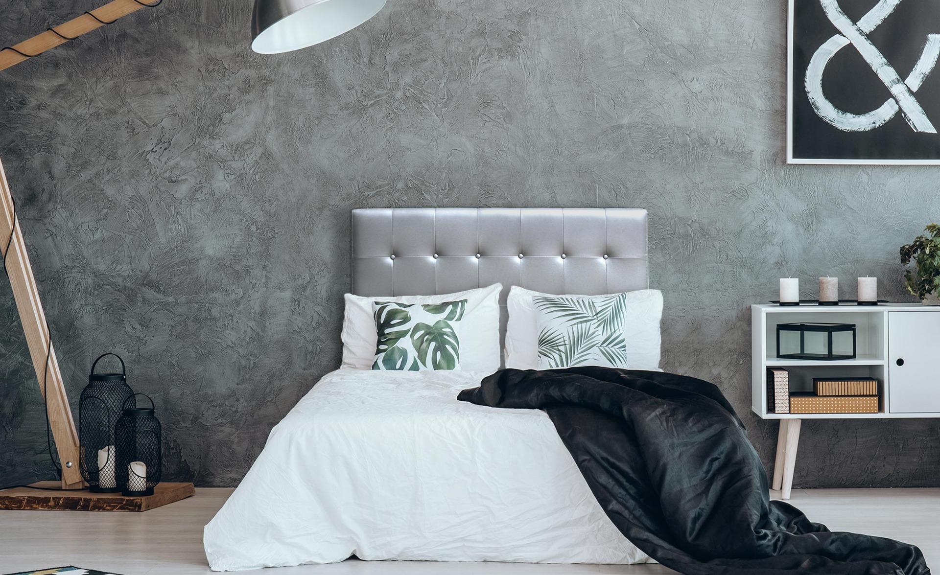 Tête de lit Luxor 140cm Argent