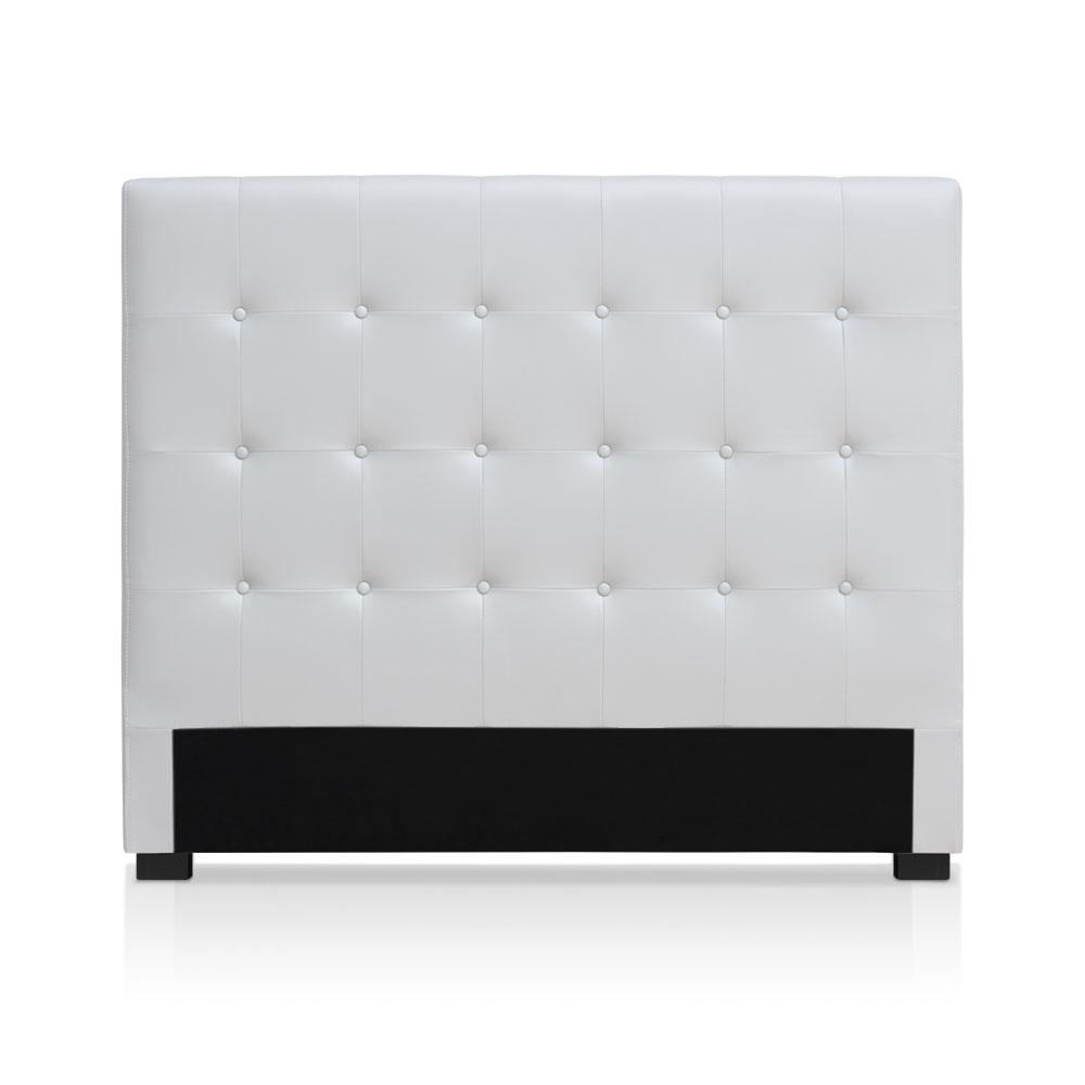 Tête de lit capitonnée pour lit au sommier de taille standard 140cm Luxor Blanc