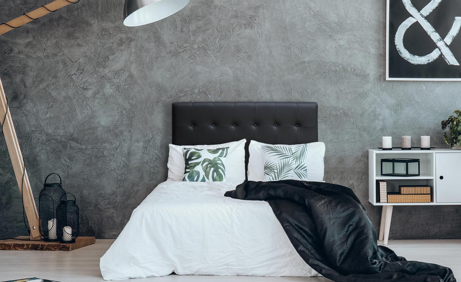 Tête de lit Luxor 140cm Noir