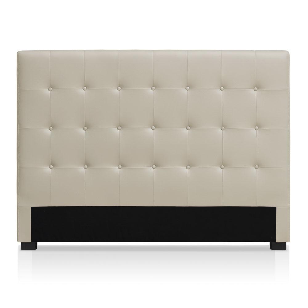 Tête de lit capitonnée pour lit au sommier de taille standard 160cm Luxor Blanc