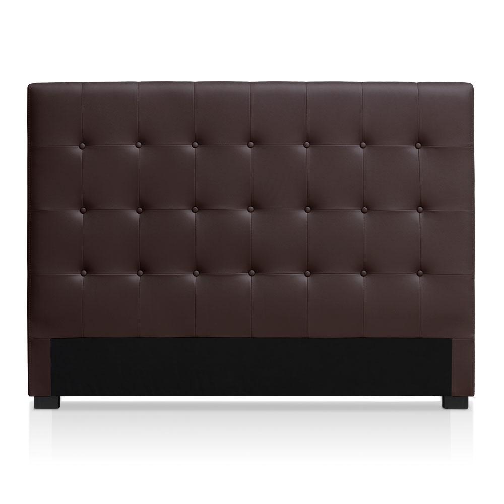 Tête de lit capitonnée pour lit au sommier de taille standard 160cm Luxor marron