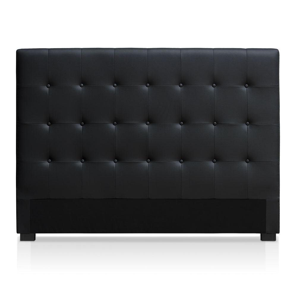 Tête de lit capitonnée pour lit au sommier de taille standard 160cm Luxor noir