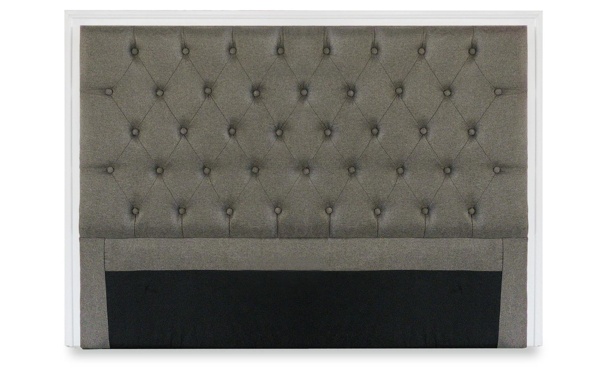 Tête de lit Hermione 140cm Tissu Taupe
