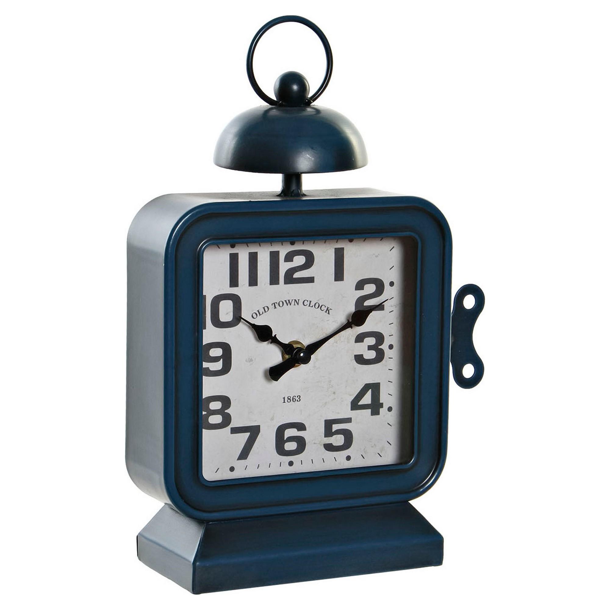 Horloge de table Berlin 18x28cm Métal Bleu