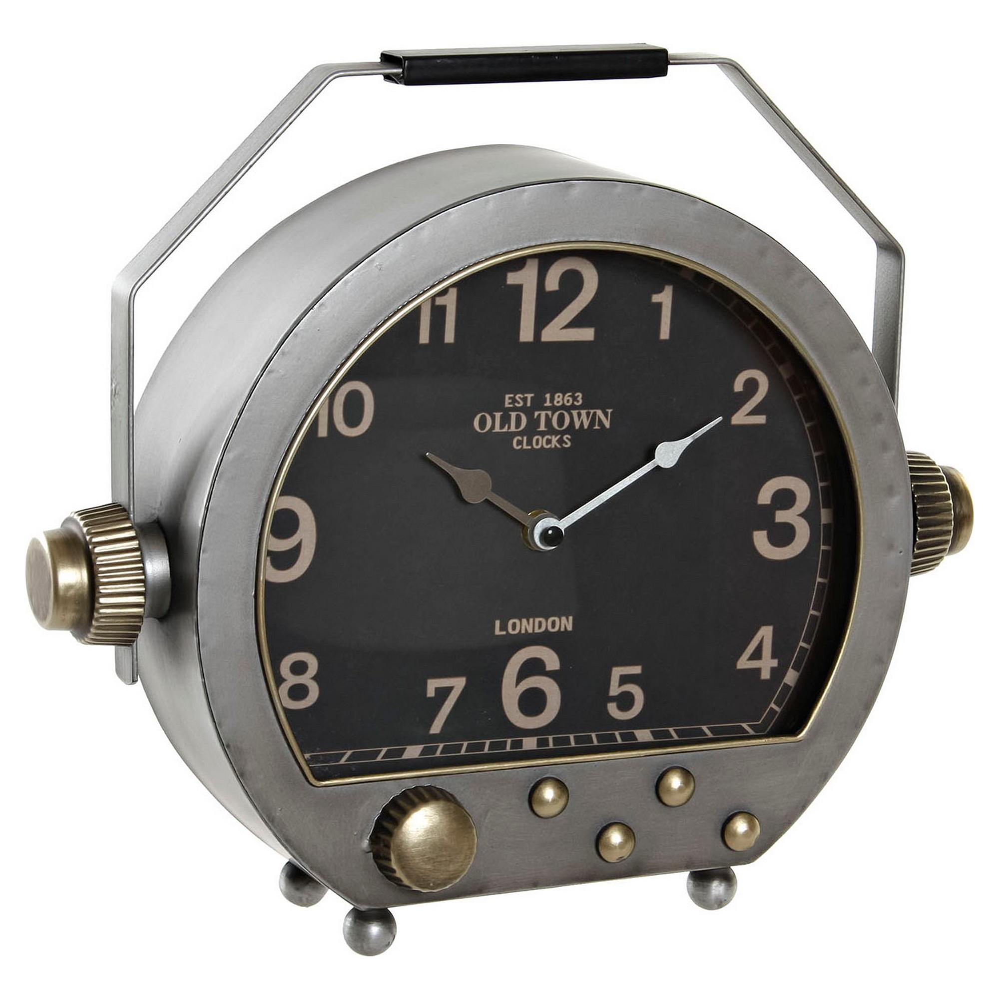 Horloge de table Jamz 34x29,5cm Métal Argenté et Or