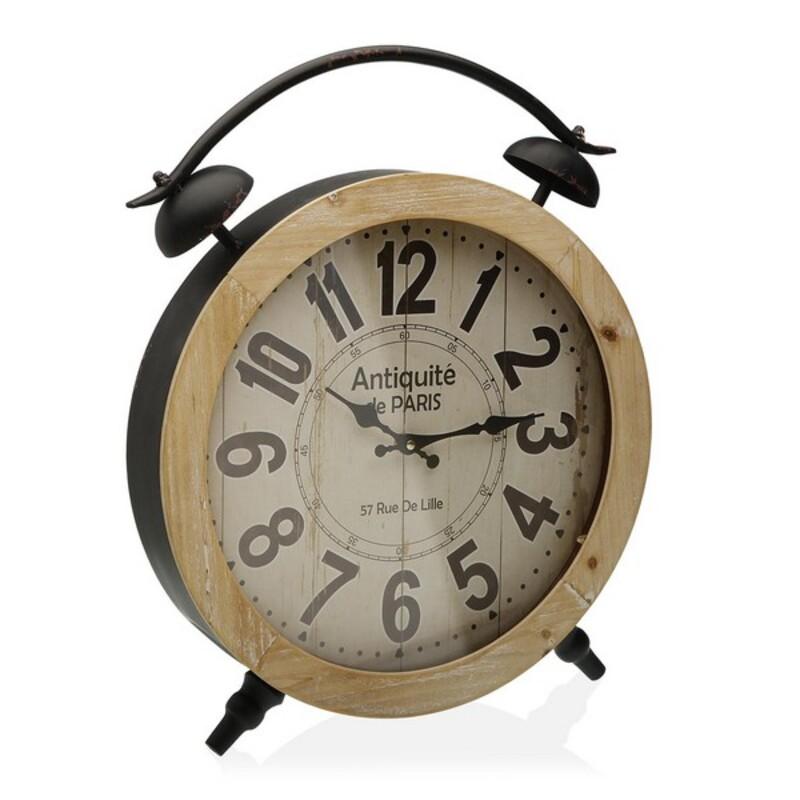 Horloge de table Lille D41cm Métal Noir et Beige