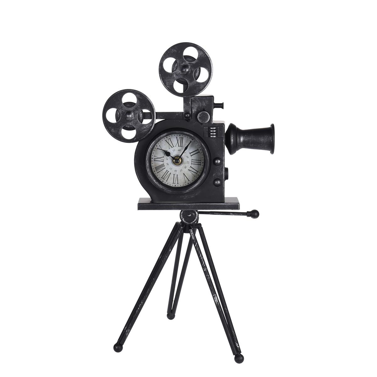 Horloge de table Muybridge 30x53cm Métal Noir