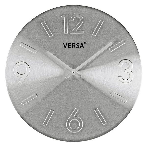 Horloge Murale Alumine 35,5cm Argent