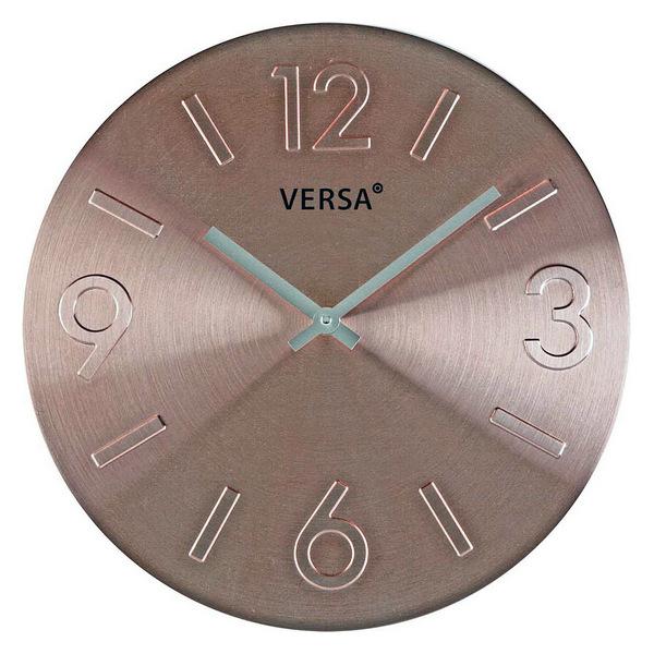 Horloge Murale Alumine 35,5cm Bronze