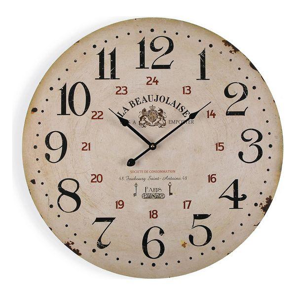 Horloge Murale Beaujo D58cm Bois Beige
