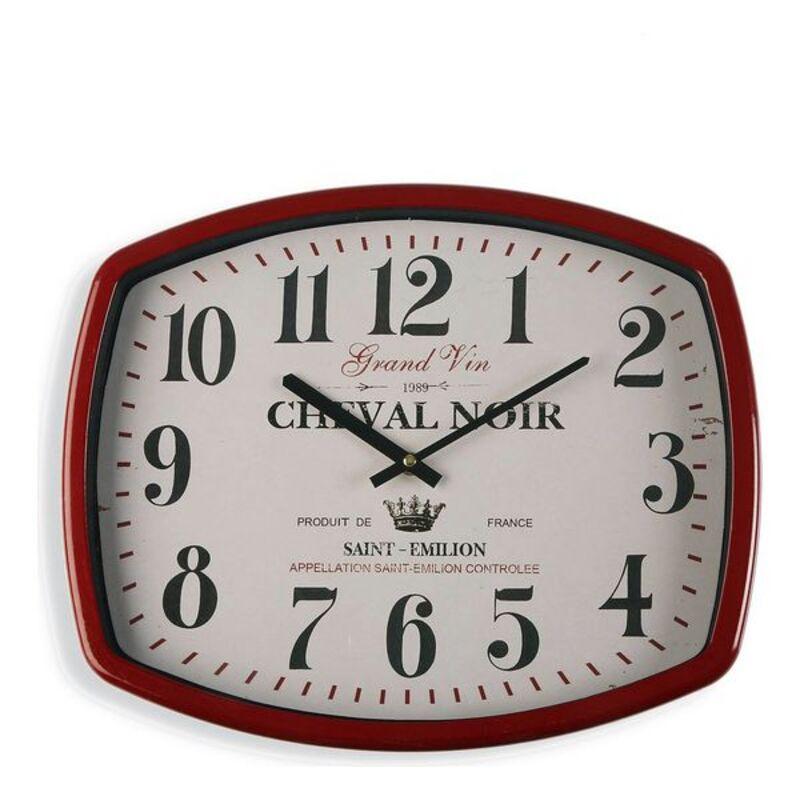 Horloge murale Cassis 40x33cm Métal Blanc et Rouge